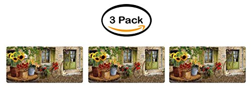 PACK OF 3 - Better Homes and Gardens Village, Beveled Edge, Cushion Comfort Mat