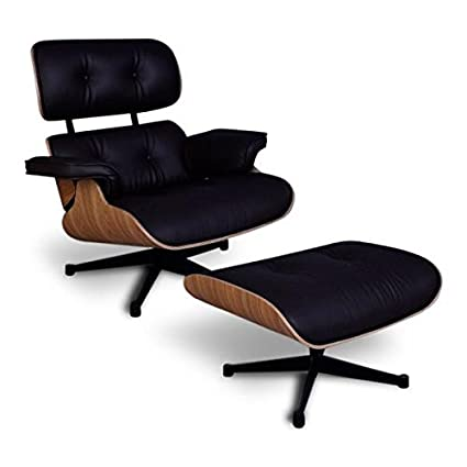 Eames Lounge Stoel Replica.Home Hearth Eames Lounge Chair And Ottoman Replica Brown Pu