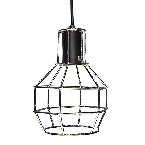 Silver Cage Pendant Light - 3