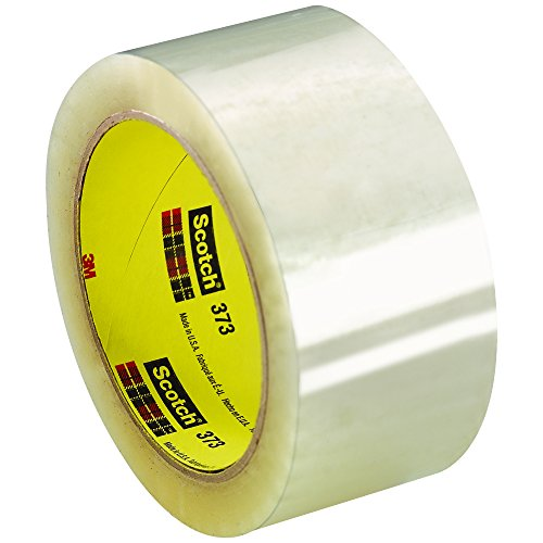 Ship Now Supply SNT902373 3M 373 Carton Sealing Tape, 2.5 Mil, 2'' x 110 yd., Clear (Pack of 36) by Ship Now Supply