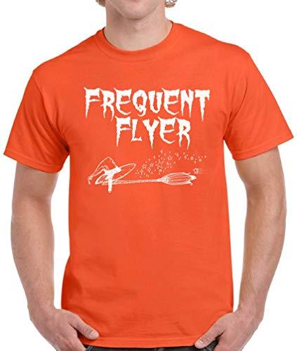 Vizor Men's Halloween Pumpkin Shirt Trick Treat Tshirt Halloween Party Gifts Frequent Flyer 4XL
