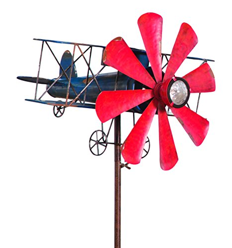 Biplane Spinner Weatherproof Windmill Sculptures