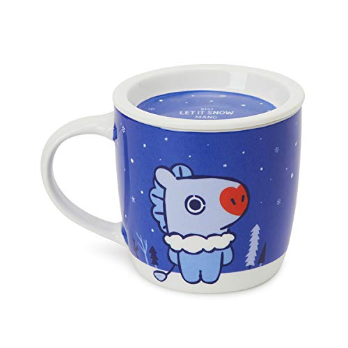 BT21 Official Merchandise by Line Friends - MANG Character Winter Ceramic Mug Cup