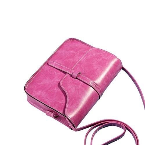 Bolsos de Hombro,✦JiaMeng Bolsa de Mensajero de Cuero Bolsa de Mensajero de Hombro con Cruz Rosa Caliente