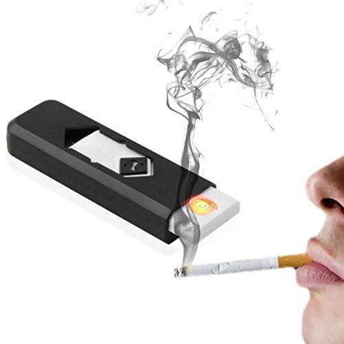 Techonto Electronic USB Cigar Cigarette Lighter Windproof Rechargeable Flameless Lighter