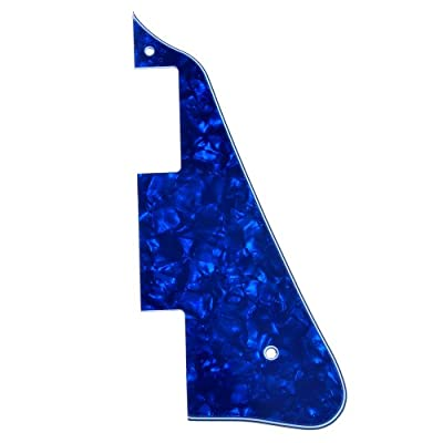 Kmise A6650 Electric Guitar Pick Guard for Gibson Les Paul Replacement, New Green & Blue Pearl by Kmise