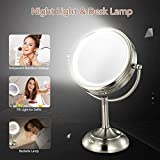 "Professional 8.5"" Lighted Makeup Mirror, 10X"