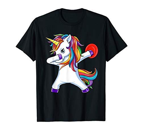 (Dabbing Unicorn Funny Flying Disc Golf Player Gift T-Shirt)