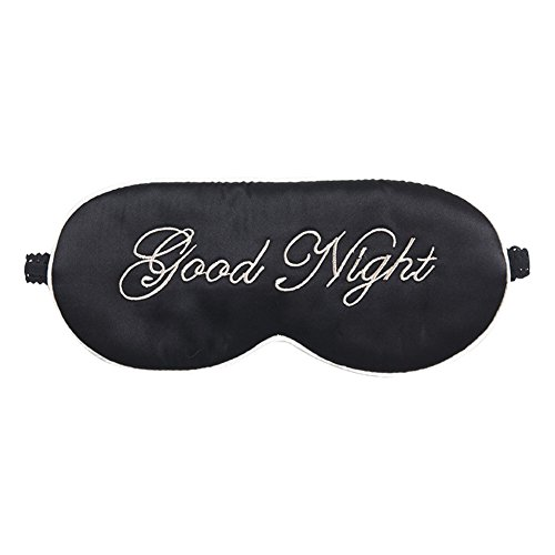 Writers Block Costume (ACTLATI Soft Sleeping Eye Patch Sleep Aid Cover Mulberry Silk Eye Mask Cute Breathable Blindfold Black)