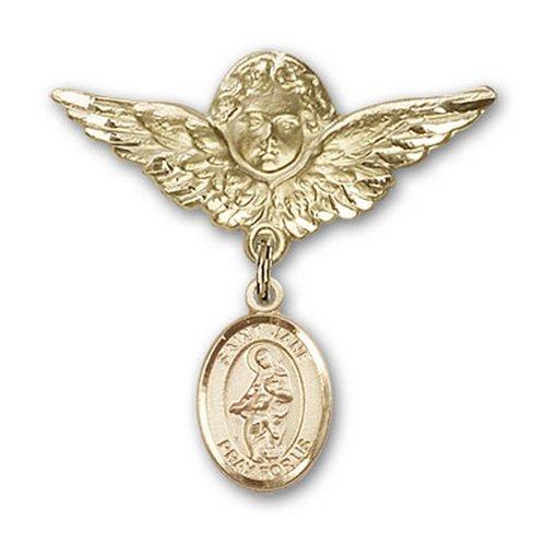 Icecarats Or Bijoux De Créateurs Rempli R. Jane De Valois Charme Ange Broche De Badge 1 1/8 X 1 1/8