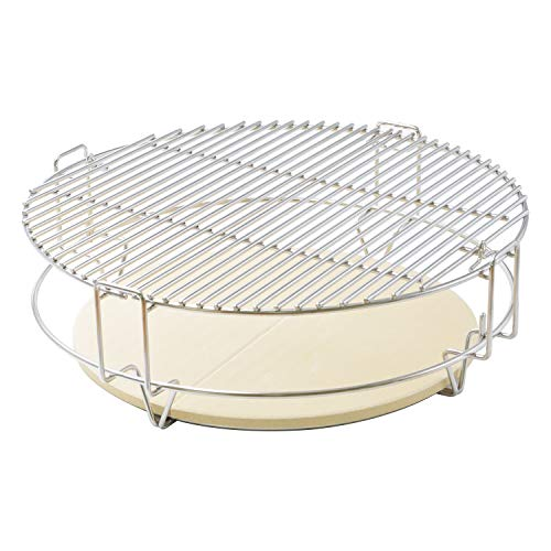 Onlyfire Cooking System Fit for Large Big Green Egg, Kamado Joe Classic, Pit Boss, Large Grill Dome, and Other Kamado Grill