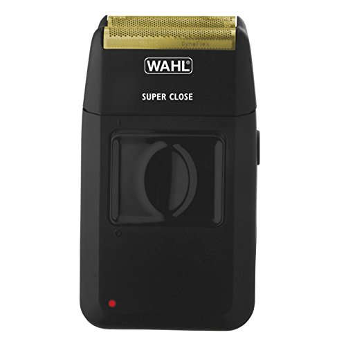 Wahl Men's Super Close Cordless Shaver Black With Dynaflex Cutting System, Bonus FREE Wahl Replacement Flex Foil Head & Cutting Blade Assembly Included
