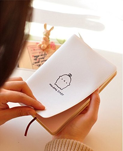 "Haiker White ""Molang Rabbit"" Diary Any Year Planner Pocket Journal Notebook Agenda Scheduler"