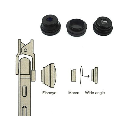 Universal compatible Lens with Filter/Fish-Eye Lens/Long Focal Lens/Wide-Angle Lens/Jelly Lens (Jelly Lens Iphone Filter compare prices)