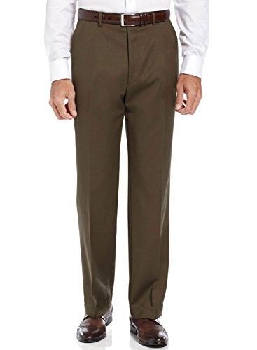 Ralph Lauren Total Comfort Dark Brown Wool Dress Pants Flat Front 33W x ()
