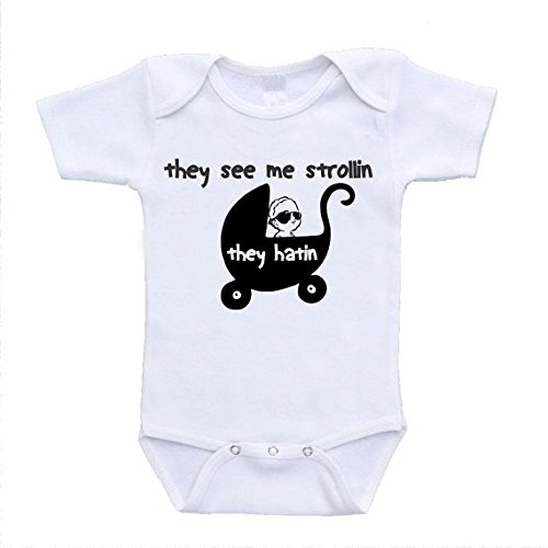 They See Me Strollin Strolling Hilarious Baby Bodysuits Onesies