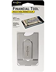 Nite Ize Financial Tool, Multi Tool Money Clip, Minimalist Wallet, Money Clip, Multi Tool, and Credit Card Holder Combo, Stainless Steel