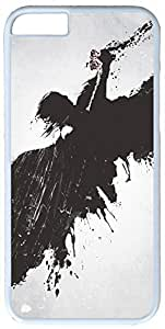 Dark Angel Painting Artistic Case for iPhone 6 Plus PC Material White