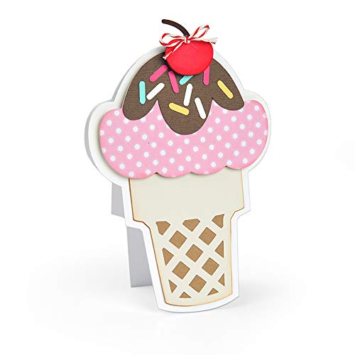 (Sizzix 664114 Ice Cream Fold-its Dies, One Size, Multicolor)