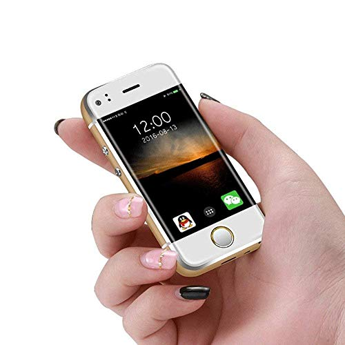 (Mini Cell Phone SOYES Smartphone Android mobile phone Mtk6572 CPU Wifi 2.45 Inch Capacitive Screen Dual SIM Children's Phone Gift(gold))