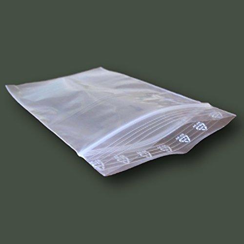 2 opinioni per 100pezzi 7x 10cm buste in plastica trasparente con chiusura a cerniera Poly