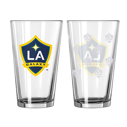 Los Angeles Galaxy Fan - Los Angeles Galaxy Satin Etch 16 Oz. Pint Glass