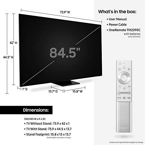 SAMSUNG 85-inch Class QLED Q900T Series - Real 8K Resolution Direct Full Array 32X Quantum HDR 32X Smart TV with Alexa Built-in (QN85Q900TSFXZA, 2020 Model)