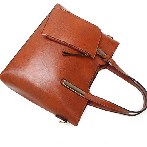 Sauvage À Femme Bandoulière Messenger Vnlig Portable Cuir En Version Du Sac Pour Mode Bag Nouveau Coréenne Brown Noir couleur Ynique Main 5Tgnqn6p