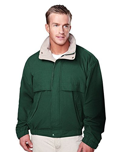 Tri-Mountain Men's 5300 Panorama Water-Resistant Microfiber Jacket,Forest Green,XXL