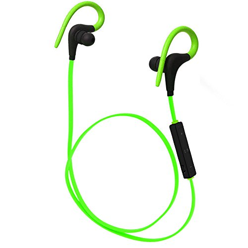 Cornmi Bluetooth Headphones Waterproof, Wireless Sport Earphones Bluetooth 4.1, HiFi Bass Stereo Sweatproof Earbuds W/Mic, Noise Cancelling Headset for Workout, Running, Gym, 6 Hours Play - Hands Free Coby Earphone