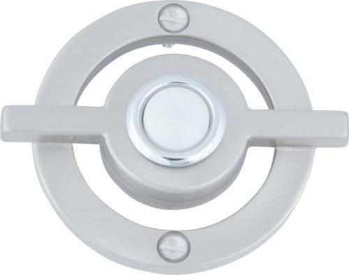 3-BRN 2.5-Inch Avalon Door Bell, Brushed Nickel ()
