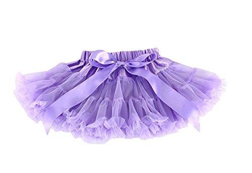 [Tutu Dreams Baby Girls Chiffon Pettiskirt (L, Lavender)] (Kids Tutu)