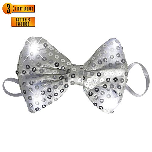 Skeleteen Light Up Bow Tie - Adults and Kids Fun Party Costume Accessory - 1 Piece