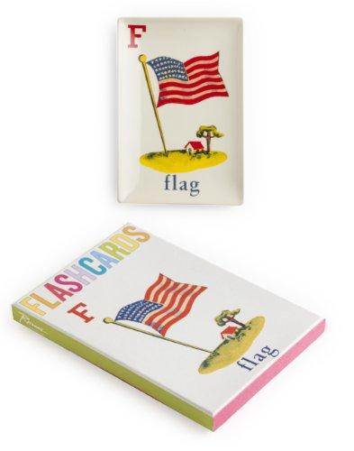 Rosanna 94870 Flashcard Flag Tray, White/Red/Blue/Yellow