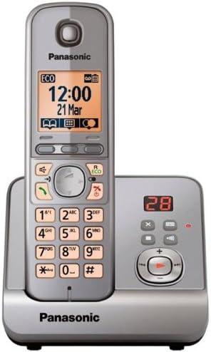 kx-tg6721em Panasonic KX-TG6721 DECT – Teléfono inalámbrico con retroiluminación LCD altavoz contestador automático plata (single-pack) (kx-tg6721em): Amazon.es: Electrónica