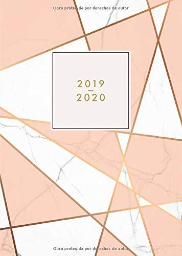 2019 2020: Agenda 2019/2020 español - Agenda semanal 18 meses - Julio 2019 a Diciembre 2020 - mármol con rayas, rosa por Papeterie Collectif
