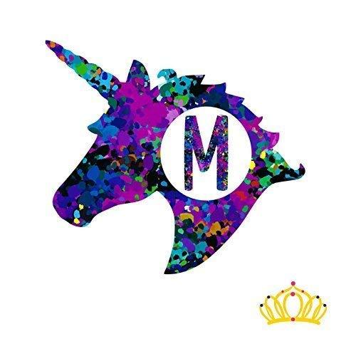 Amazon Com Letter M Monogram Unicorn Decal For Yeti Cup Tumbler