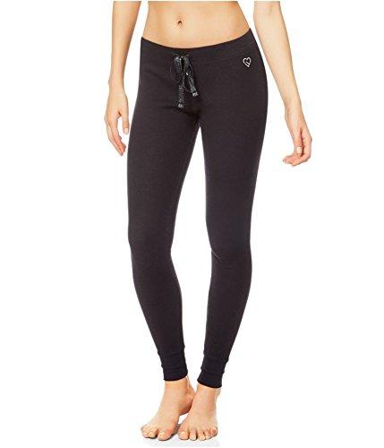 Aeropostale Womens Thermal Pajama Lounge Pants, Black, Small ()