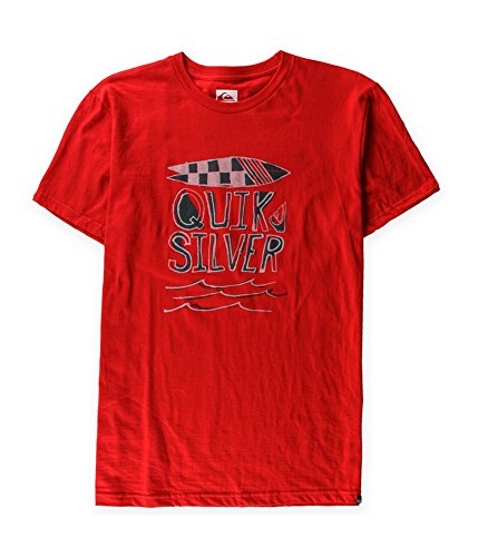 Quiksilver Mens Sprocket MT4 Slim Graphic T-Shirt Red (Quiksilver Slim T-shirt)