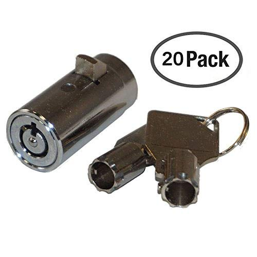 20 - MEI-2501B-KA Vending Machine Lock with Tubular Keyway and Chrome Finish, Keyed Alike #1452