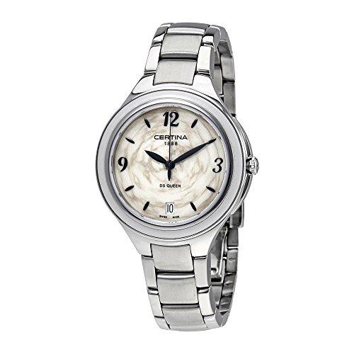 Certina Women's DS Queen Steel Bracelet & Case Sapphire Crystal Quartz MOP Dial Watch C018.210.11.017.00
