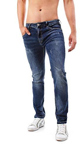 Slavato Regular Ripped Slim Classici Uomo Instinct Blu Vari Fit 6532 Modelli Jeans nBOZxa