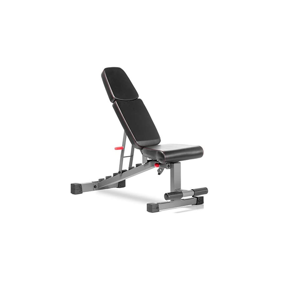 XMark Commercial Flat Incline Decline Weight Bench, 1500 lb Capacity, 7 Back Pad Adjustments From Decline To Military Press, Ergonomic 3 Position Adjustable Seat, and Built In Transport Wheels XM 9022