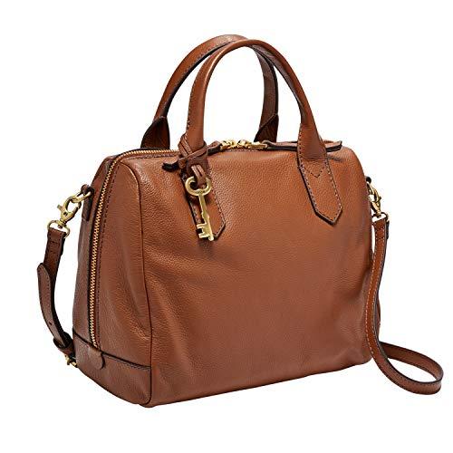 Fossil Fiona Satchel Handbag, Medium Brown (Sydney Fossil Tote)