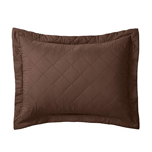 BrylaneHome Bh Studio Reversible Quilted Sham - Chocolate Latte, King