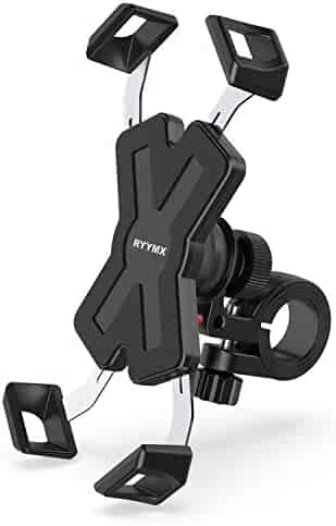 Bike Phone Mount - RYYMX Bicycle Phone Holder : 360° Rotation Adjustable Motorcycle Phone Mount for iPhone Xs Max XR X 8 7 6 Plus, Samsung S10+ S9 S8, Note 10 9 8, GPS, 4-7 inches Android Cell Phones