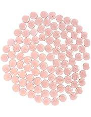 B Blesiya 100Pcs Premium Glass Marbles Flat Aquarium Pebbles Vase Filler Crystal Beads Table Scatter Decoration