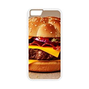 Cheeseburger iPhone 6 Plus 5.5 Inch Cell Phone Case White phone component AU_595854