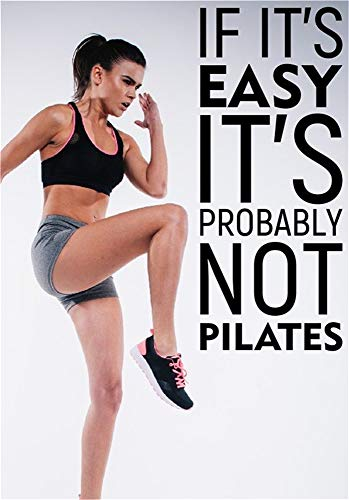 Amzcat Wall Decor Stickers for Living Room If It's Easy It's Probabil Not Pilates for Gym Living Room]()