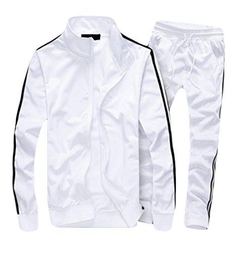 XQS Men's Casual Jogging Track Suit Jacket & Pants Set